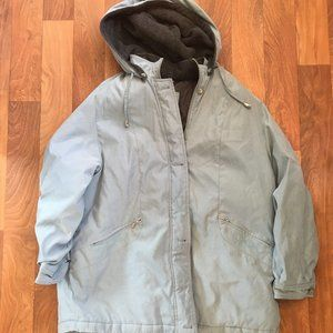 Braetan Hooded Rain Jacket Light Blue with Fleece